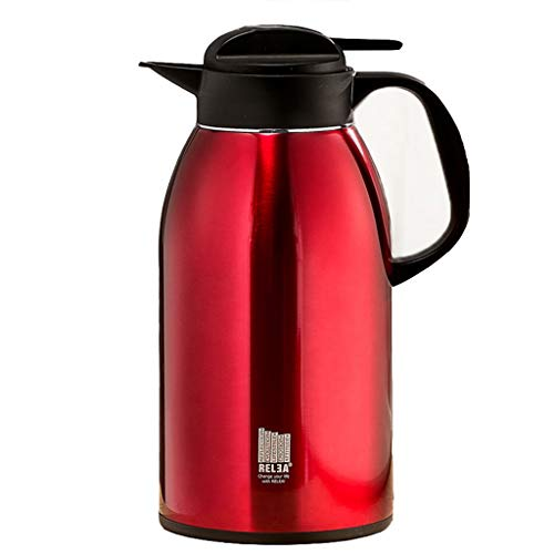 Agate Pots - Zcxbhd 2 Litre Vacuum Insulated Insulation Kettle Household 304 Stainless Steel High Capacity Hot Water Bottle Cup Warmer Thermos Insulation Pot (color : Agate red)