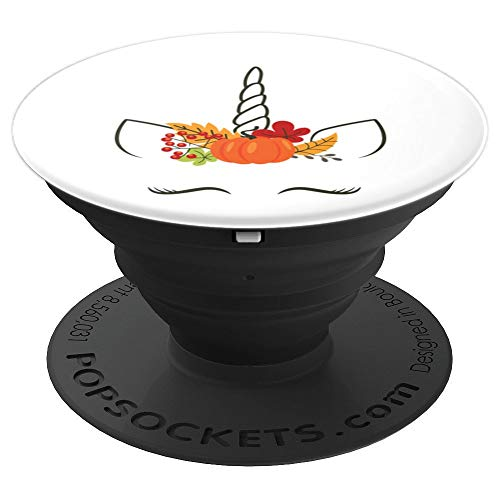 Unicorn Pumpkin Halloween Headdress - PopSockets Grip and Stand for Phones and Tablets