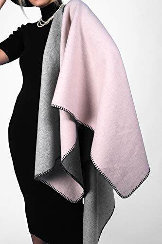Mudena Woolen Women's Poncho Shawl Wraps For Women. Open Front Wool Poncho Cape For Women.