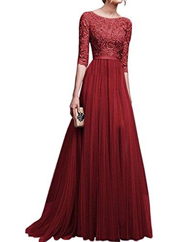 XIU*RONG Vestidos De Noche Vestidos Y Vestidos Claret