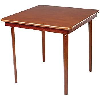 Meco 0056.00791 Straight Edge Folding Card Table, Cherry