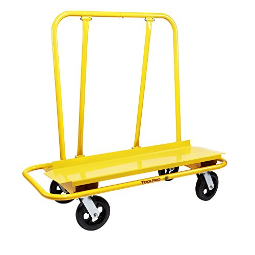 Commercial 4 Casters Locking (ToolPro Commercial Drywall Cart, 3000 lb. capacity, 4 Swivel Casters)
