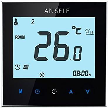Anself 6+1 Programmpläne Elektrische Raumthermostat mit Touchscreen LCD Display 16A 110-230V