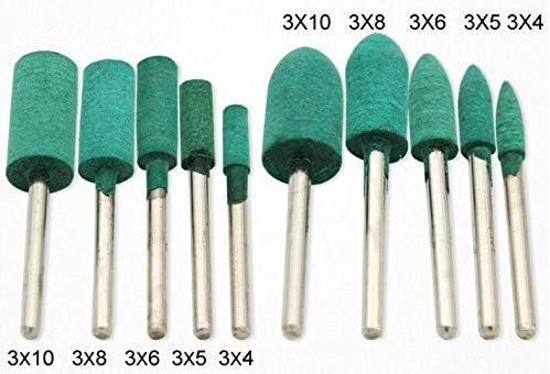 Mixed Set 3mm Shank WINGONEER 100Pcs Polishing Grinding Wheels Wool//Sesame//Rubber//Cowhide Grinding Tools
