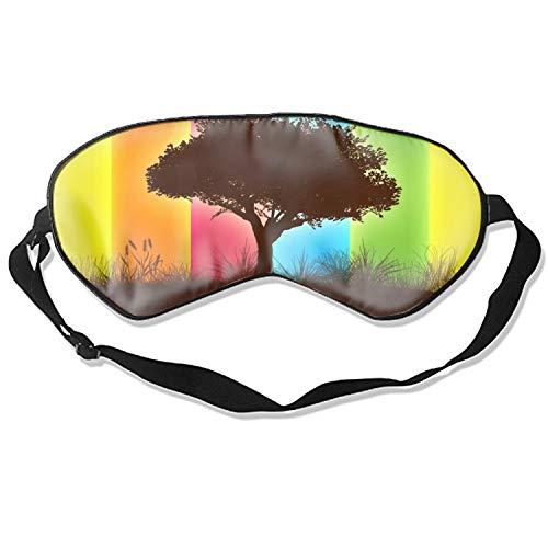100% Silk Sleep Mask for Women & Men, Eye Mask for Sleeping with Adjustable Strap, Blindfold, Tree of Life