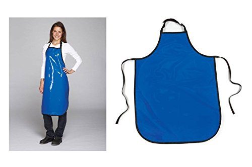 Value Grooming Aprons Water Resistant Vinyl Apron for Dog & Cat Groomers Salon(Value - Blue)