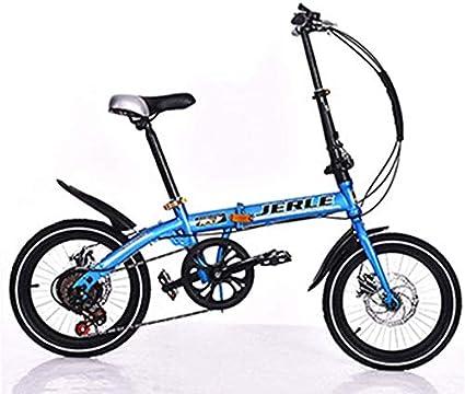 Pkfinrd - Bicicleta Plegable de 14 Pulgadas y 16 Pulgadas de ...