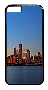 ACESR Chicago Skyline iPhone 6 Hard Case PC - Black, Back Cover Case for Apple iPhone 6(4.7 inch) hjbrhga1544