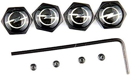 TGH VB-CTR Kit de 4 Tapones de Aluminio Negro para v/álvulas VTS Sistema Antirrobo