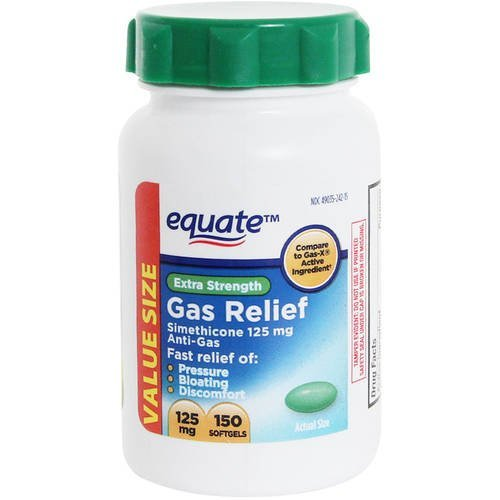Equate Extra Strength Gas Relief, 125mg, 150 count
