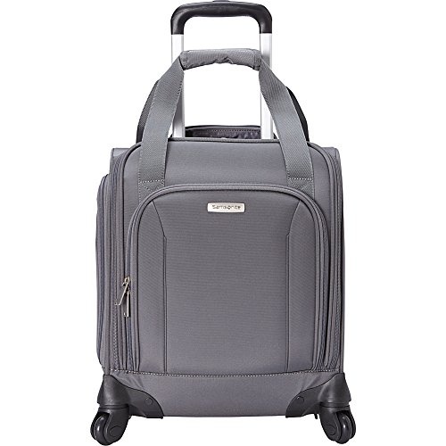 (Samsonite Spinner Underseater with USB Port, Rolling Carry-On With Laptop Pocket - Fits 14.2 Inch Laptop - (Pewter))