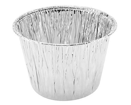 Disposable Aluminum 7 oz. Baking Cups/Cake Cups/Dessert Cups #1210NL (No lids) (100) (7 Ounce Ramekin)