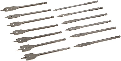 CRAFTSMAN 920919 13 Piece Spade Bit Set with Metal Storage Rack