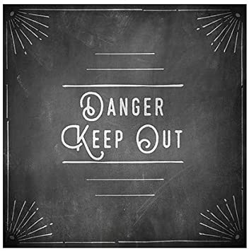 CGSignLab 5-Pack Basic Gray Window Cling Danger Keep Out 27x18