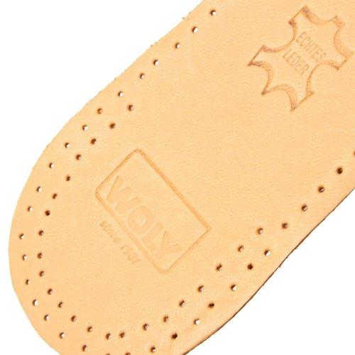 Woly Comfort Leather Insole, Unisex-Erwachsene Komfort Einlegesohle Grau
