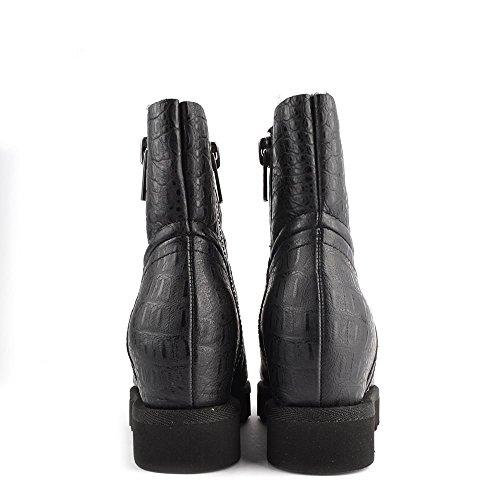 Ash Zapatos Yang Botines de Ante Negro Mujer Negro
