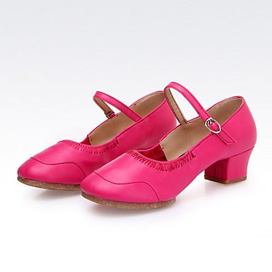 XIAMUO Nicht anpassbar - Die Frauen tanzen Schuhe Leder Leder Latin/Moderne Turnschuhe Ferse Praxis, Weiß, uns 4-4,5/EU 34/ UK 2-2,5/CN33