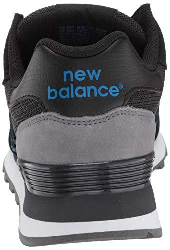 New Balance Men's 515 V1 Sneaker, Black/Magnet, 7 XW US