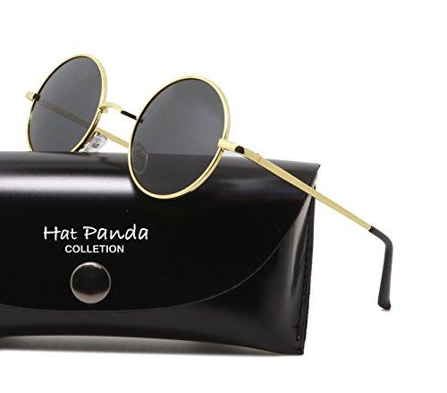 Hat Panda schwarz de Gold Lunettes 47mm soleil Homme rrOdwF