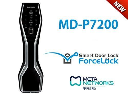ForceLock MD-P7200 Keyless Biometric Fingerprint Smart Push Pull Door Lock Fingerprint + Password+ Key + RFID Card / RFID Tag by ForceLock