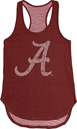 NCAA Alabama Crimson Tide Adult Women NCAA Women's Tri Blend Panel Tank,Large,Cardinal