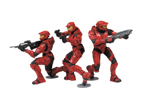 McFarlane Toys Halo 2009 Heroic Collection Red Team Set