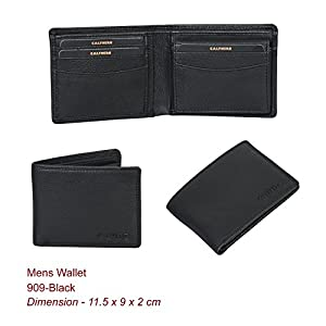 Bifold Leather Wallets for Men - RFID Blocking Genuine Leather Slim Front Pocket Mens Wallet with ID Window Multi Card Holder