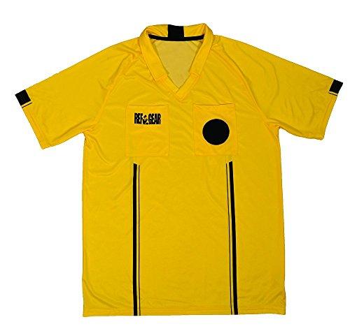 REF GEAR Economy Referee Jersey Yellow, Small
