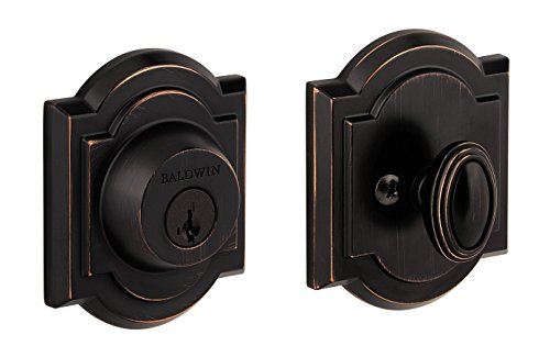(Baldwin Prestige 380 Arched Single Cylinder Deadbolt Featuring SmartKey in Venetian Bronze )