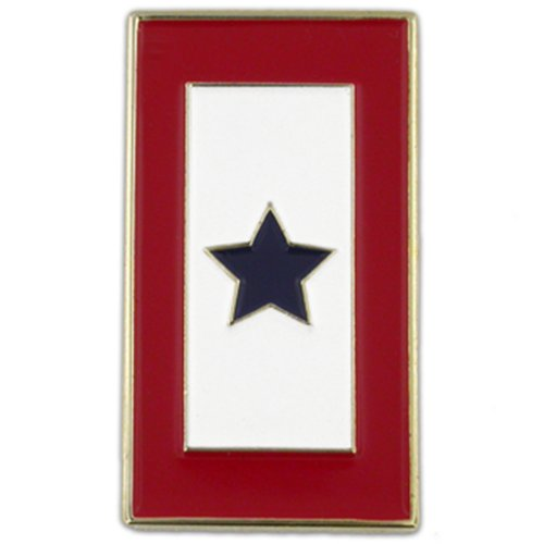 PinMart Rectangular Patriotic Military One Blue Star Service Flag Lapel Pin
