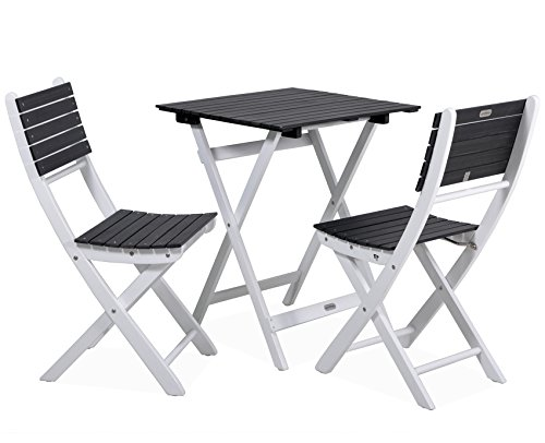 My Garden 422232 Balkonset Gartenmöbel Set 2 Stühle + 1 Tisch eckig ...