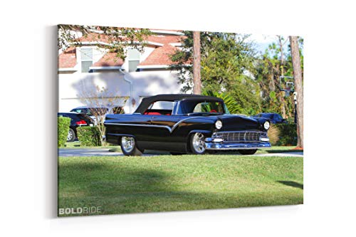1955 Ford Sunliner Convertible Resto Mod Retro Hot Rod Rods Gr - Canvas Wall Art Gallery Wrapped 26