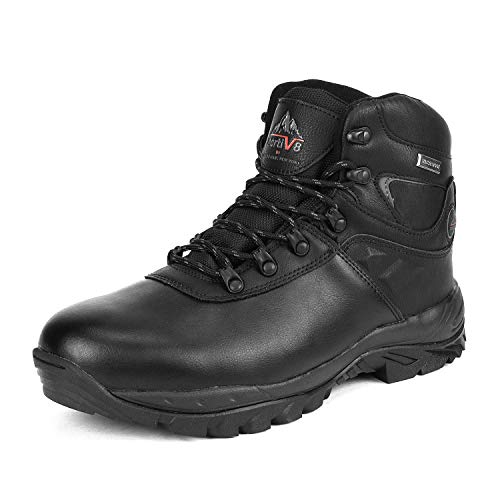 NORTIV 8 Men's 170412 Black Waterproof Hiking Boots Lightweight Shoes Backpacking Trekking Trails Size 9 M - Boots 09 Black