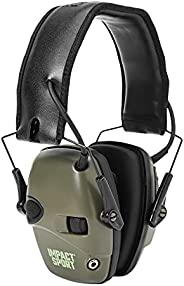 Howard Leight by Honeywell Impact Sport Sound Amplification Electronic Shooting Earmuff, Classic Green (R-0152
