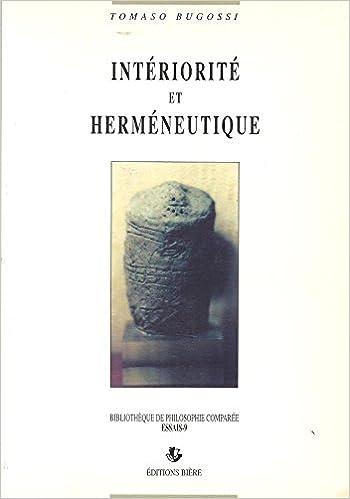 Intériorité et herméneutique pdf ebook