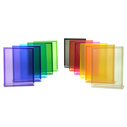 Source One Premium Colored Acrylic Portrait Slant Back Sign Holders (Pink, 8.5 x 11) by SOURCEONE.ORG