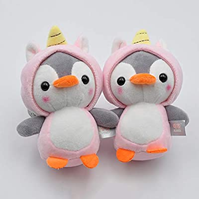 UTUT Keychain Cute Penguin Bee Animal Plush Doll Pendant Keychain Ring Key Holder Bag Decor Green: Toys & Games