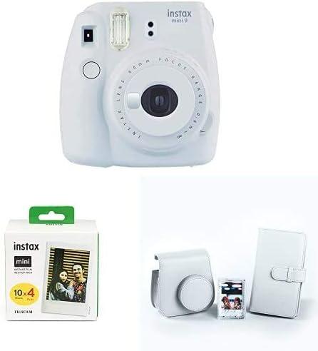 Fujifilm Instax Mini 9 - Cámara instantanea, Blanco (Smoky White) + Pack de 40 películas + Kit de Accesorios (Funda, Álbum, Marco): Amazon.es: Electrónica