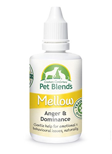 Pet Remedy for Dominant, Angry, Volatile, Aggressive and Training Animals. to Naturally Calm Dogs, Cats and Horses. The Original Mellow Pet Blend Flower Essence 50ml