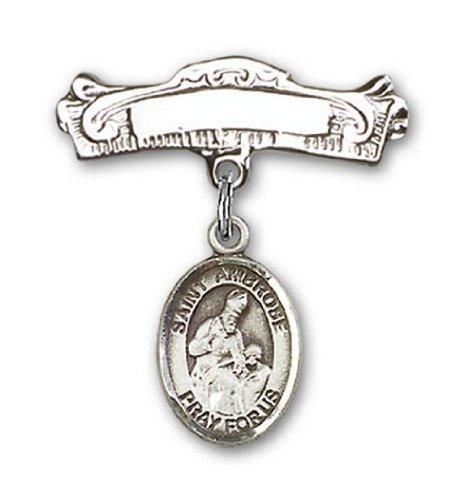 Icecarats Créatrice De Bijoux En Argent Sterling St. Charme Ambrose Broches Badge Arc 7/8 X 7/8