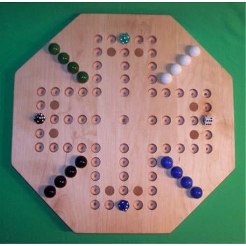 【おしゃれ】 パズルマンのおもちゃ W-1932.1 18インチ 八角形の彫刻 木製 木製 大理石 18インチ ゲームボード 8つの樺の象嵌のスポット付き ハードメープル油 B07HKKC3SC 4プレーヤー 5穴 B07HKKC3SC, 車のフロアマット専門店 クーマ:358f70d5 --- a0267596.xsph.ru