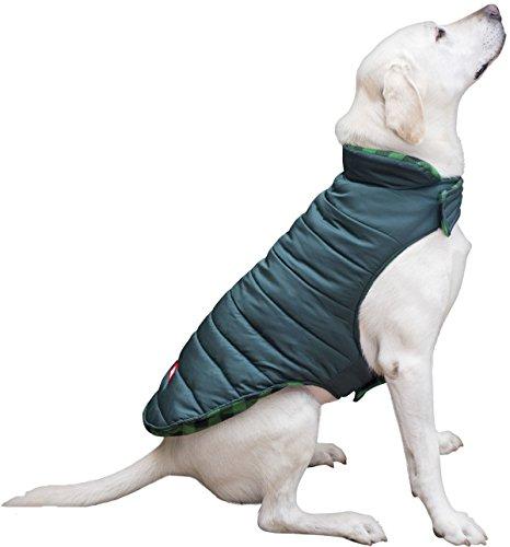 Coleman Dog Reversible Fleece Jacket, Green, X-Large - 22.5\