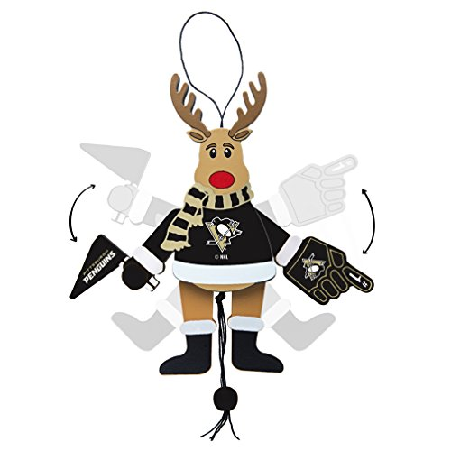 NHL Pittsburgh Penguins Wooden Cheer Ornament ()