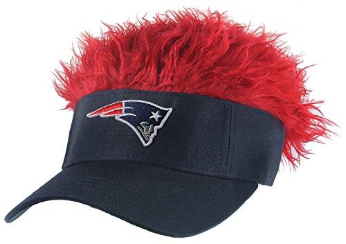 - NFL New England Patriots Flair Hair Adjustable Visor, Navy