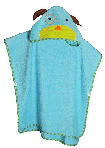 SCHLUPFI - Premium Badeponcho für Kinder aus 100% Baumwolle | Jungen und Mädchen nutzen den Poncho auch als Badetuch, Kapuzenhandtuch oder Kinderbademantel (Tier-Variante: