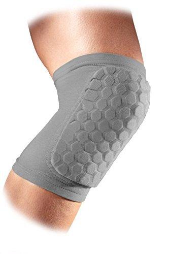 (McDavid Classic Hexforce Knee/Elbow/Shin Pads (Pair) - Grey, Medium)