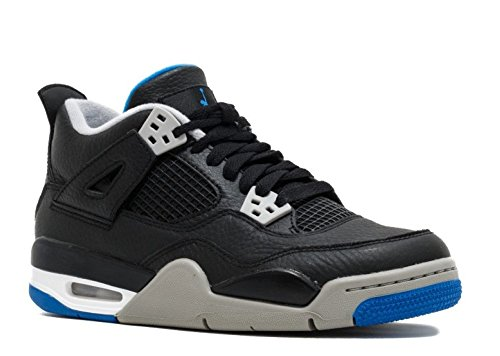 Jordan Nike 408452-006: Kids Air IV 4 Retro BG Black/Silver Basketball Sneaker (7 M US Big Kid) (Ladies Tennis Shoes Jordans)