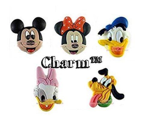 CharmTM Mouse Set of 5 PVC Shoe Charms Crocs Natives Party Favors by