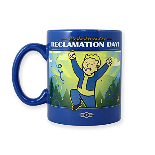 Autumn Accent Mug - Officially Licensed Fallout 76 Blue Reclamation Day Ceramic Mug, 16oz