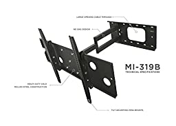 Mount-It! Full Motion TV Mount, Articulating, for LCD/LED Wall Mount Bracket with Swing Out Arm for 32\